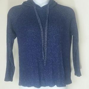 Kenneth Cole Sweater top long sleeve Hood blue